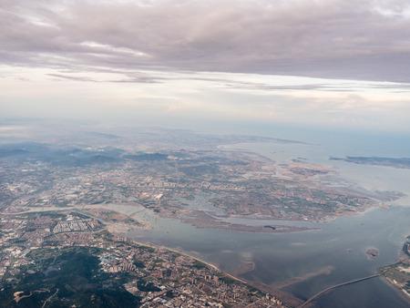 Aerial photography Xiamen Stockfoto - 110077407
