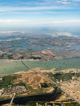 Aerial photography Xiamen Stockfoto - 110077414