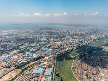 Aerial photography Qingdao Stockfoto - 110077465