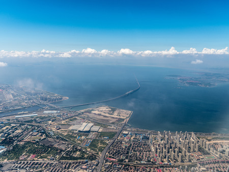 Aerial photography Qingdao Stockfoto - 110077470