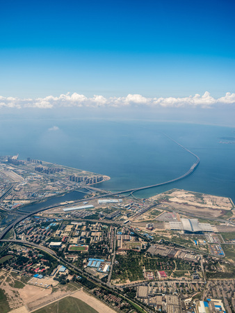 Aerial photography Qingdao Stockfoto - 110077473