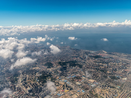 Aerial photography Qingdao 스톡 콘텐츠 - 110077477