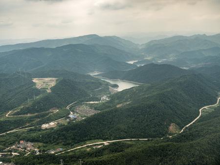 Aerial photography in Ningbo Stockfoto