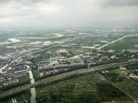 Aerial photography in Ningbo Redactioneel