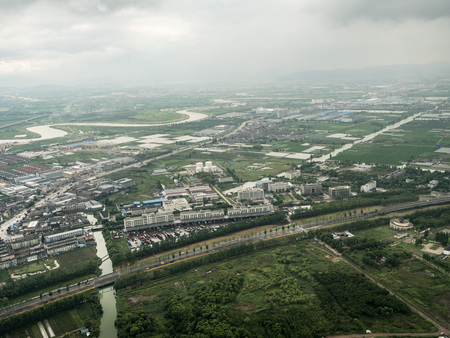 Aerial photography in Ningbo 에디토리얼