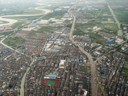 Aerial photography in Ningbo 스톡 콘텐츠