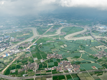 Aerial photography in Ningbo Stockfoto