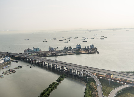 Aerial photography of the Pearl River Estuary