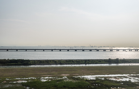 Aerial photography of the Pearl River Estuary 스톡 콘텐츠 - 109802870