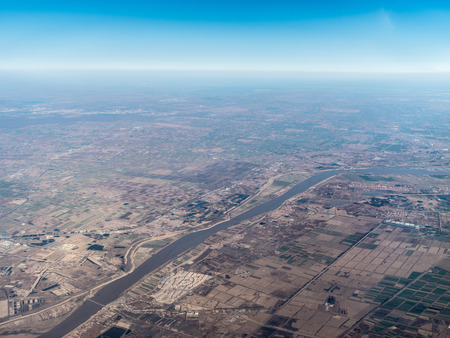 Aerial photograph the Yellow River Stock Photo