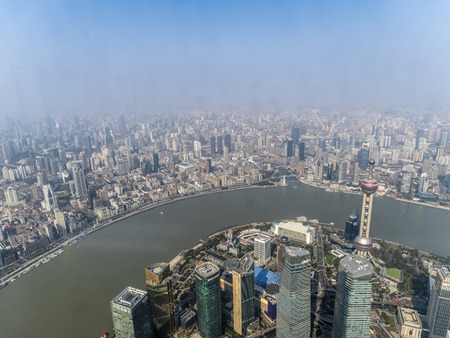 Overlooking Shanghai city 스톡 콘텐츠 - 109446247