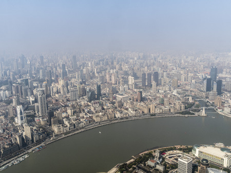 Overlooking Shanghai city 스톡 콘텐츠 - 109446250