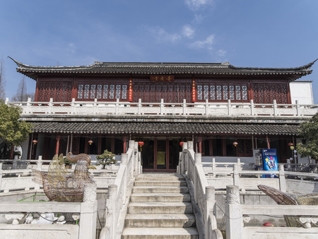 Ancient architecture at Suzhou garden 에디토리얼