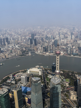 Overlooking Shanghai city