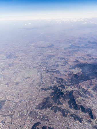 Aerial photography Jinan city 스톡 콘텐츠