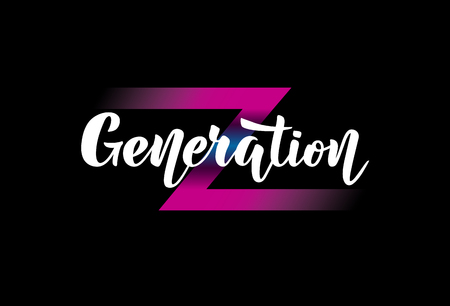 Illustration with handwritten phrase Generation Z. Illustration