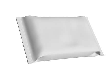 Wet wipes with shadow isolated on white background