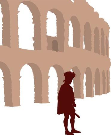 prisoner of war: Gladiator Illustration