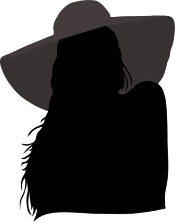 the stranger: Mysterious lady Illustration