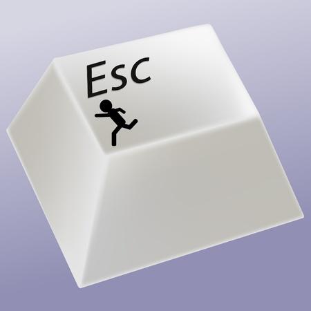 run away: Escape key