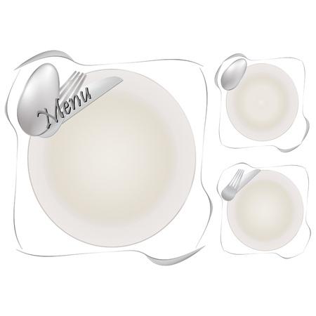 paper plates: Menu pattern Illustration