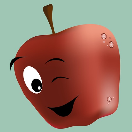 HAPPY APPLE Stock Vector - 10528646