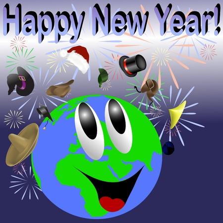 New Year celebration around the world Stock Vector - 10988191