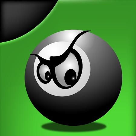 8 ball: Angry pool ball eight