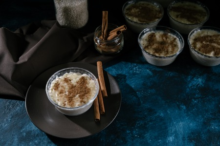 Dessert rice pudding for Easter