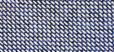 Linen canvas cross pattern white and blue background