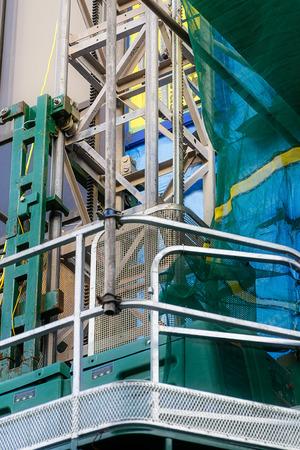 site: Construction site scaffolding platform