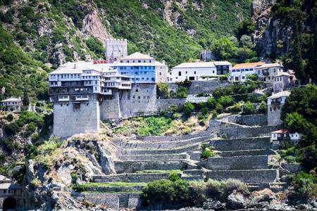 Holly monastery Dionisiou at Agion Oros (Holly Mountain) Greece