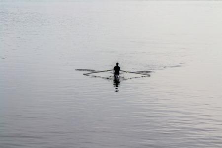 Oarsman in Ottawa river.