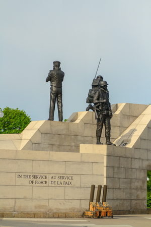 Monument of soldiers in service in Ottawa,Canada