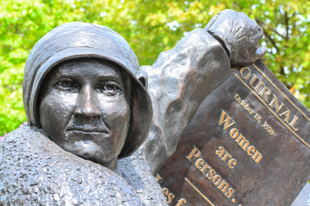 Woman right to vote monument at Parliament Hill in Ottawa,Canada