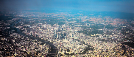 City of Frankfurt Germany aerial view Stock Photo