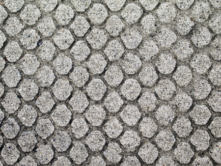 Concrete with rough textured circle pattern