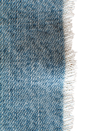 Blue jeans with fringe, includes clipping mask path