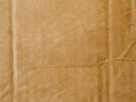 Cardboard with crease