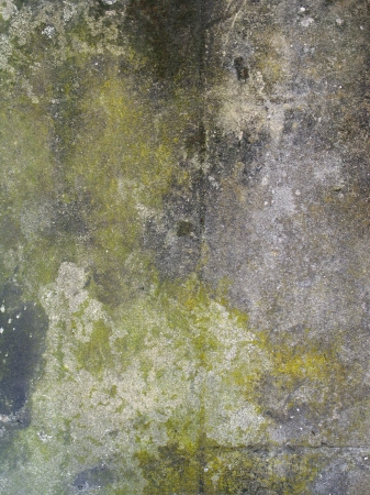 Concrete wall with rough textured concrete with stains