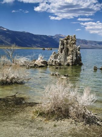 Mono Lake with exposed Tufa towers