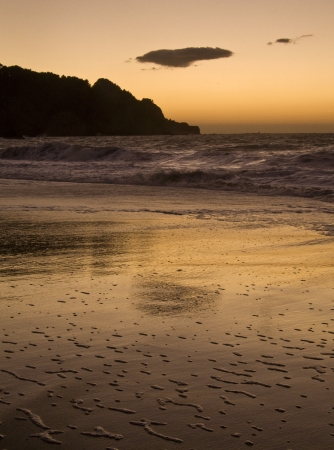 Sunset on Coast of California in Marin County near San Francisco, California just off of HWY 1 Stock fotó