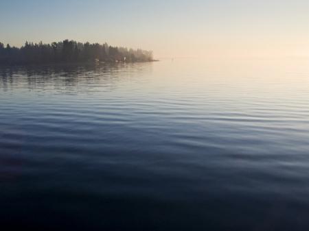 Sunset at Juanita Beach Park with Lake Washington in Kirkland, Washington