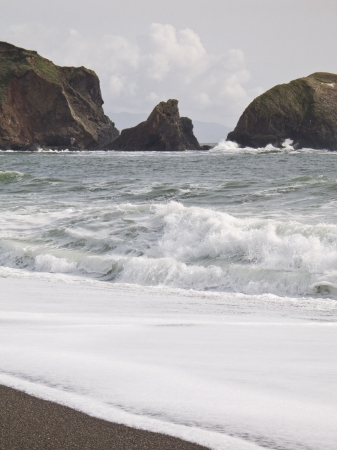 Rodeo Cove beach at the Golden Gate National Recreation Area in Marin County, California just across Golden Gate Bay and San Francisco
