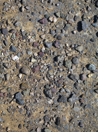 Mixture of dirt and coarse rocks texture