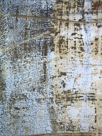 Rusted and scratched textured metal