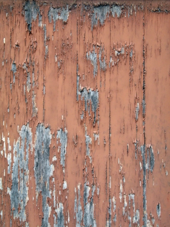 Rough textured old wooden wall with peeling paint Stock fotó - 24758263
