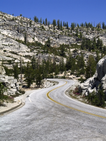 Tioga Road in Yosemite National Park near Olmsted Point Stock fotó - 24758319