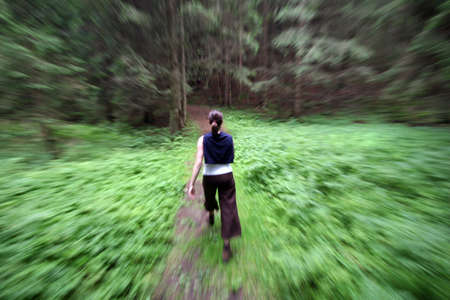 flee: Hiking in forest