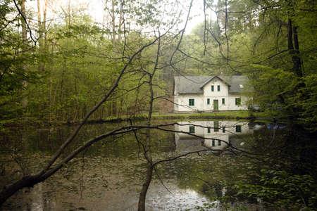 Lake house in Czech republic forest